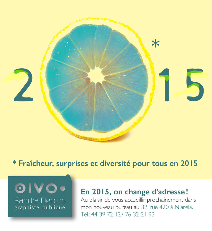 Carte de vœux personnelle 2015