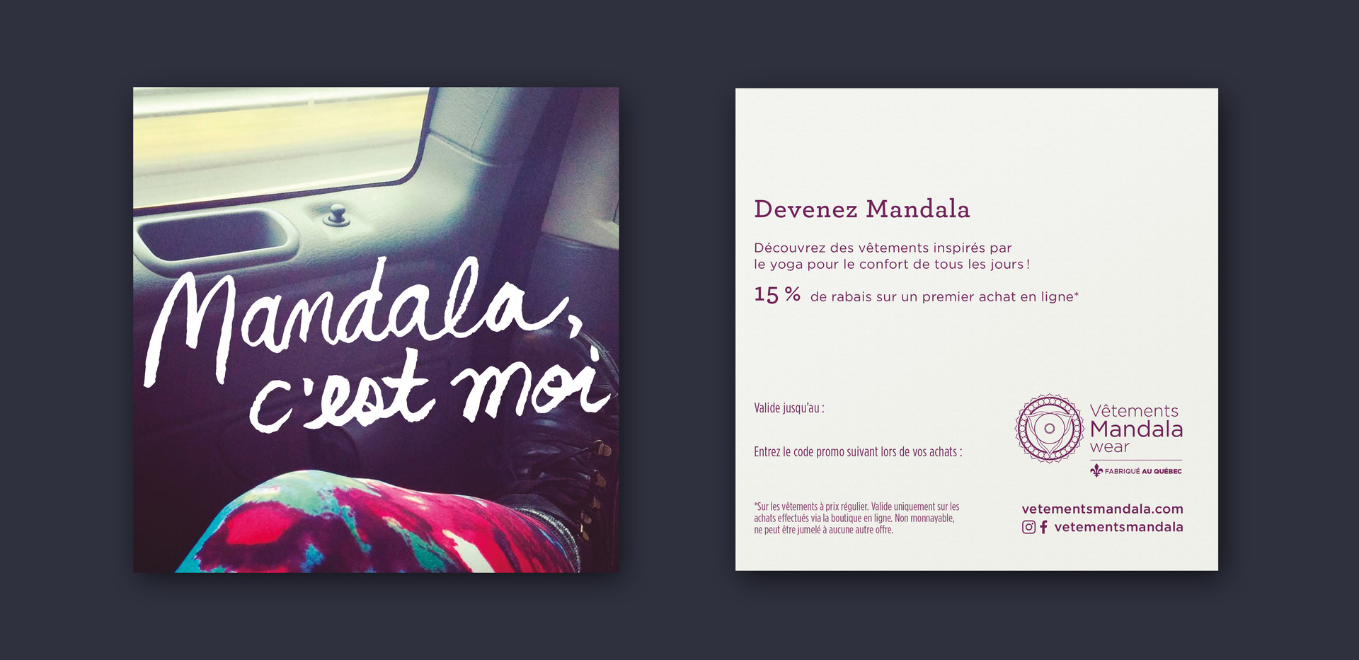 Vêtements Mandala | Carte promo