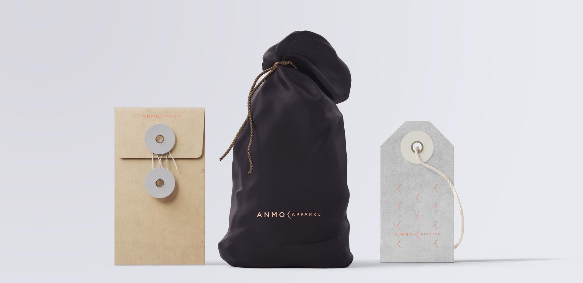 Amno | Pochette de tissus et étiquettes