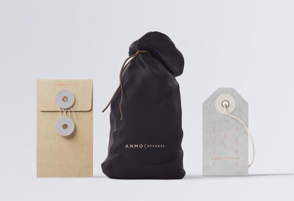 Amno   Pochette de tissus et étiquettes