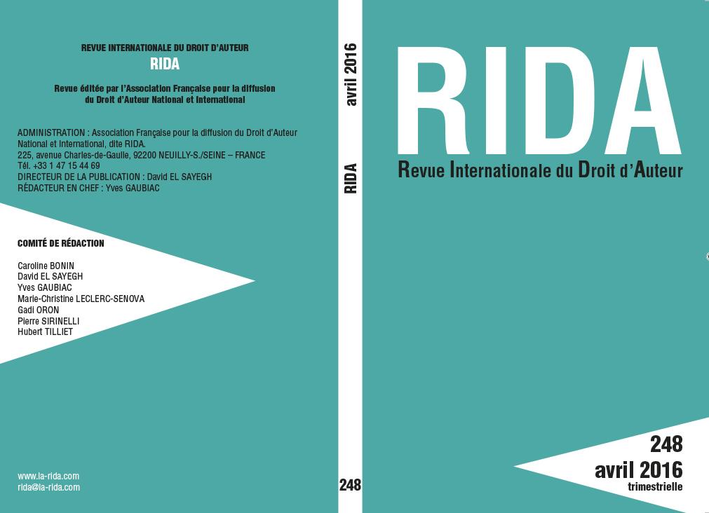 couverture RIDA