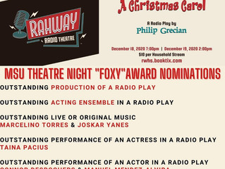 """Rahway High School's """"A Christmas Carol"""" Takes Home MSU FOXY NOMINATIONS"""