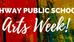 RAHWAY PUBLIC SCHOOLS ARTS WEEK IS HERE!