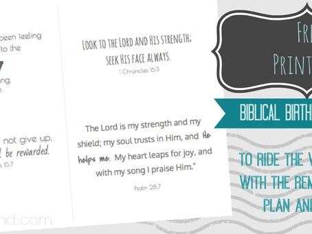 FREE Printable: Biblical Birth Affirmation Cards