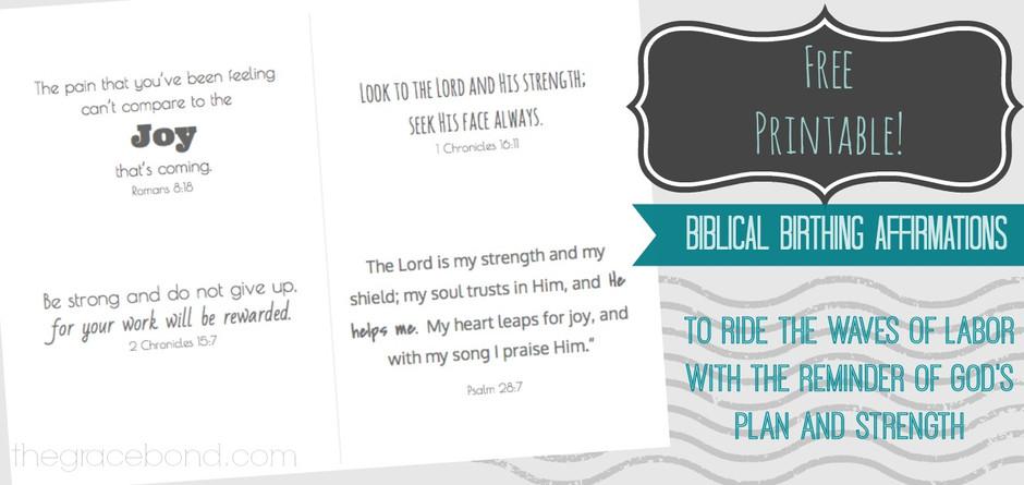 FREE Printable: Biblical Birth Affirmation Cards
