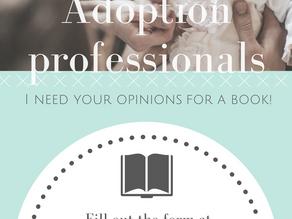 Adoption Professionals– I Need You!
