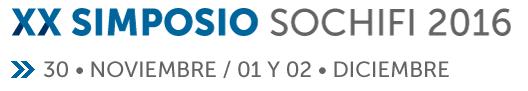 XX SIMPOSIO SOCHIFI 2016