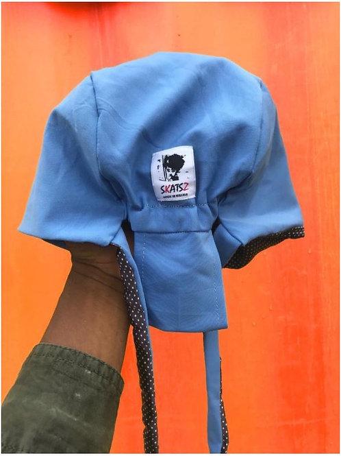 Folashade Light Blue Satin Scrub Cap