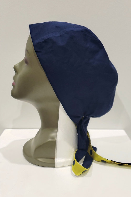 Folashade - Navy Satin Lined Scrub Caps