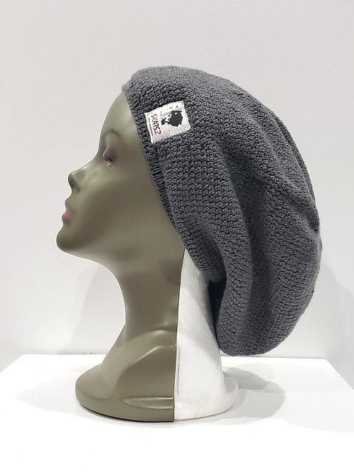 Nkem - Grey Unisex Knitted Satin Lined Slouch