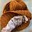 Thumbnail: OG Toyin -Brown/Black Unisex Knitted Satin Lined Slouch Beanie