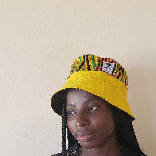 (Ade)Doyin - Kente Cloth Yellow Bucket Hat
