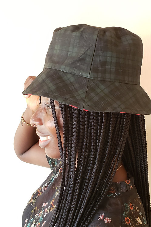(Ade)Doyin - Black Plaid Bucket Hat