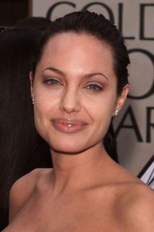 Angie Jolie thin brow