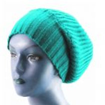 OG - Teal/Red Unisex Knitted Satin Lined Slouch Beanie