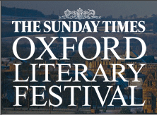 Professor Peter at the Oxford Literary Festival