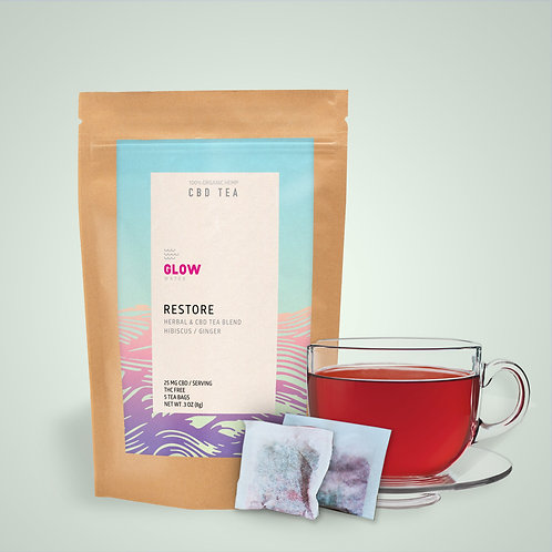 Glow Water - Restore CBD Tea