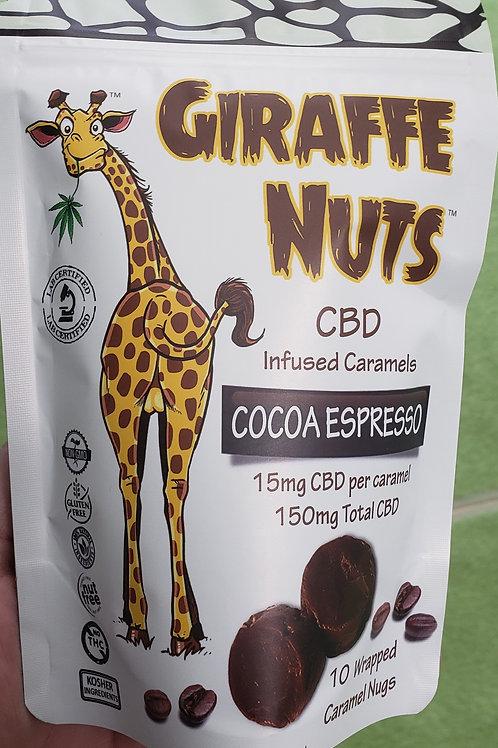 Giraffe Nuts CBD Infused Cocoa Espresso Caramels- 15mg