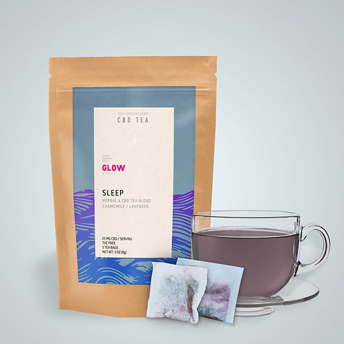 Glow Water - Sleep CBD Tea