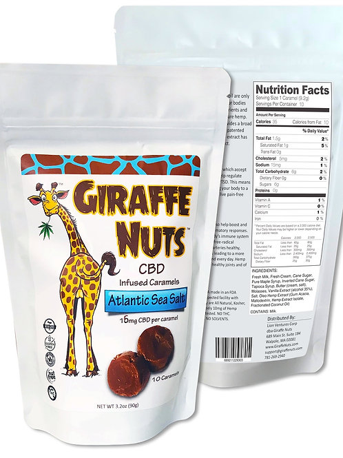 Giraffe Nuts - Atlantic Sea Salt CBD Infused Caramels