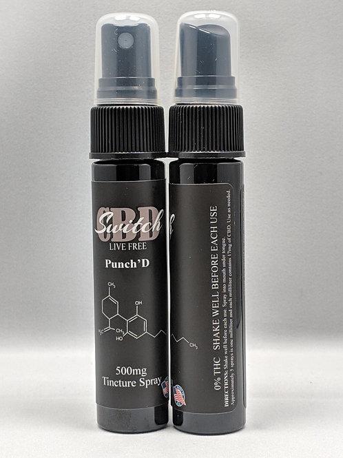 Switch CBD - Spray Tincture 500mg - Punch'd Hemp