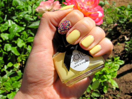 Review & Nails of the Day: Ciate Caviar Manicure in Lemon Fizz~