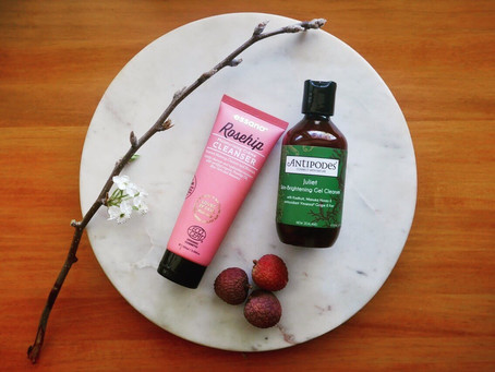 A Gel & a Cream Cleanser: Antipodes Juliet Skin-Brightening Gel Cleanser and Essano Rosehip Moi