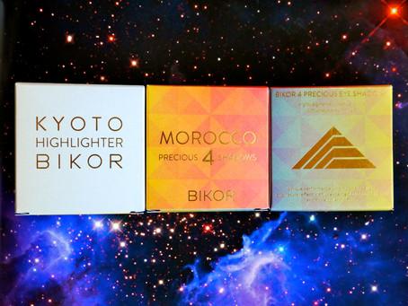 Review: Bikor Makeup – Kyoto Highlighter, Morocco Eyeshadow Quads no. 1 Palace Royal and no. 4