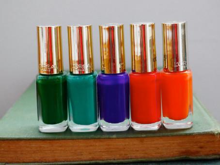Colour Inspiration: My L'Oreal Paris Colour Riche Le Vernis Nail Polish Collection