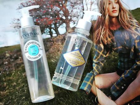Comparison & Review: L'Occitane's Shea Cleansing Oil & Immortelle Oil Makeup R