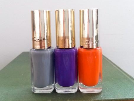 New Goodies:  L'Oreal Paris Colour Riche Le Vernis Nail Polishes