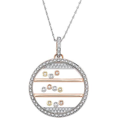 3 Rows of bezel set Diamonds