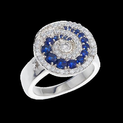 Never Ending Swirl Ring/Sapphires