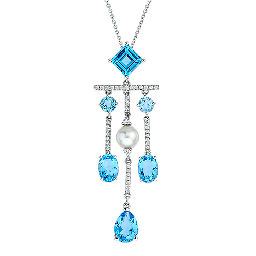 Topaz Diamond/Pearl Chandelier