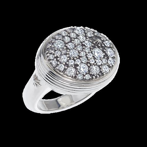 Oval Infinity Diamond Pave Ring