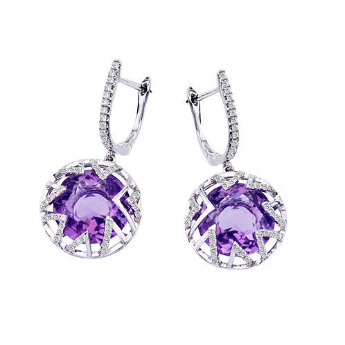 Sunburst Amethyst Earrings