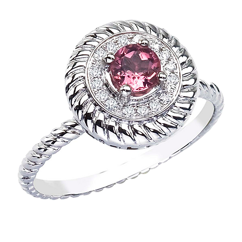 Spinning Diamond & Tourmaline Ring