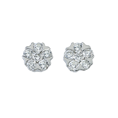 Diamond Cluster Stud