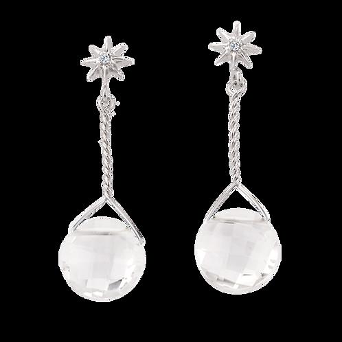 Clear Hanging Earrings