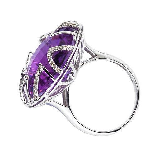Sunburst Amethyst Ring