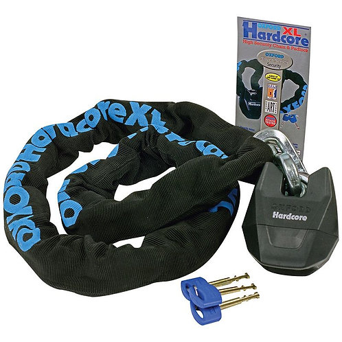 Oxford Hardcore XL Chain and Lock 1.5m OF14