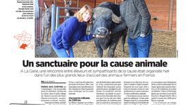 Belle couverture du Sanctuaire La Garie dans Le Parisien / Aujourd'hui en France...
