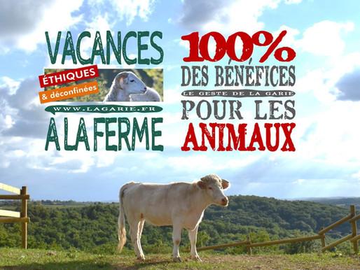 2020 : des vacances à la ferme, éthiques et déconfinées au Sanctuaire La Garie