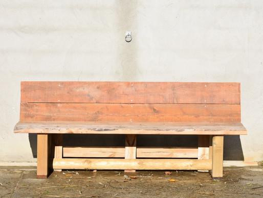 Un banc avec du bois de récup'