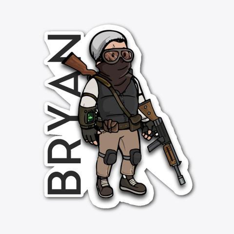 Bryan Burton Sticker