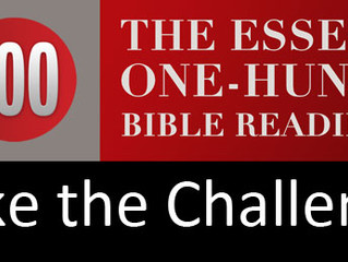 ESSENTIAL 100 BIBLE READING CHALLENGE: