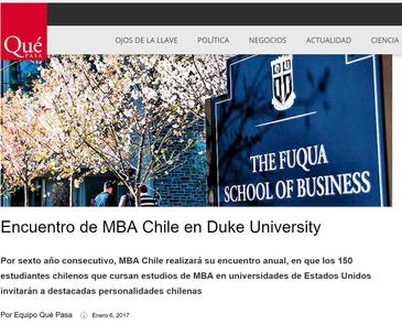 MBA Chile en revista Qué Pasa
