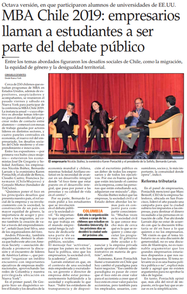 MBA Chile en el Mercurio