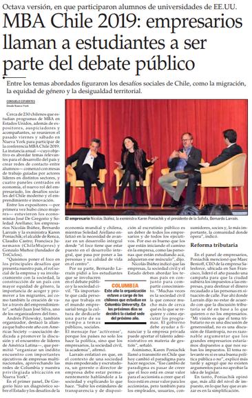 MBA Chile en el Mercurio