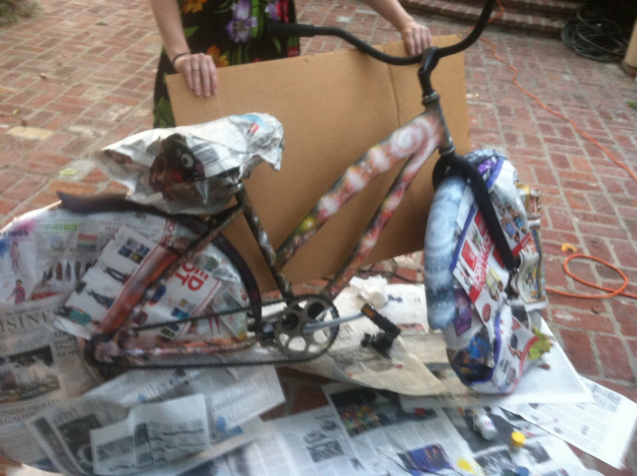 Airbrushed Galaxy Bike in Progress